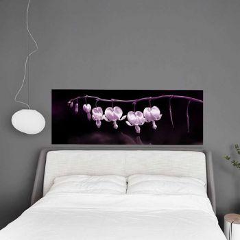 Headboard Decal Purple Flower