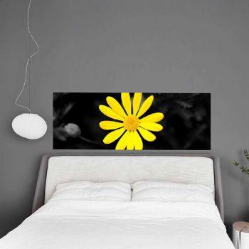 Headboard Decal Yellow Flower