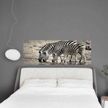 Headboard Decal The 3 Zebras