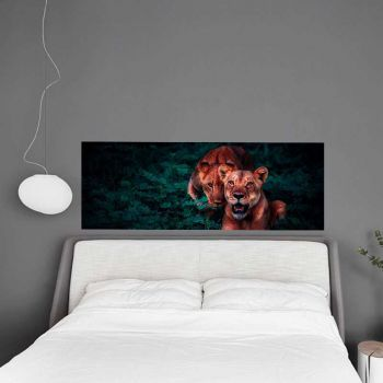Headboard Decal Lions