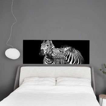 Headboard Decal Loving Zebras