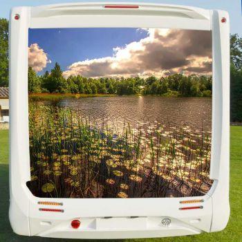 Deco Sticker Camping Car Lac Nature