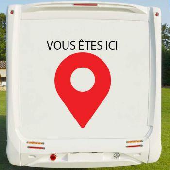 Sticker Deco Camping Car Vous Êtes Ici