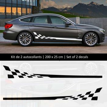 Sticker Set  BMW série 3 style Racing side stripes decals