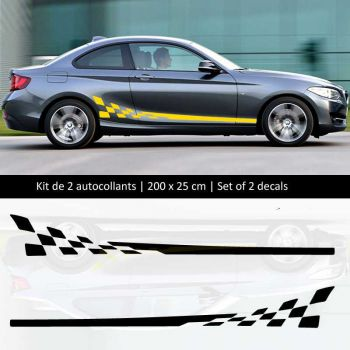 Sticker Set BMW série 2 style Racing side stripes decals