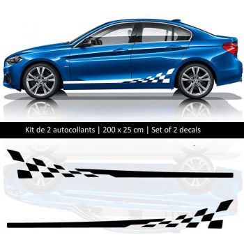 Sticker Set  BMW série 1 style Racing side stripes decals