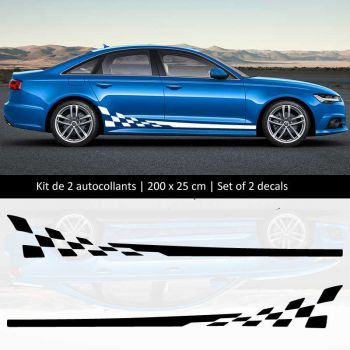 Sticker Set Audi A6 style Racing side stripes decals