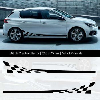 Sticker Set Peugeot 308 style Racing side stripes decals