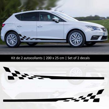 Sticker Set Seat Leon style Racing side stripes decals