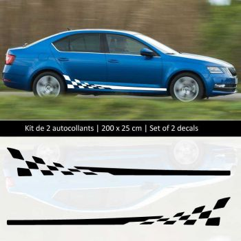 Sticker Set Škoda Octavia style Racing side stripes decals