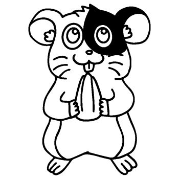 Male Hamster Decal