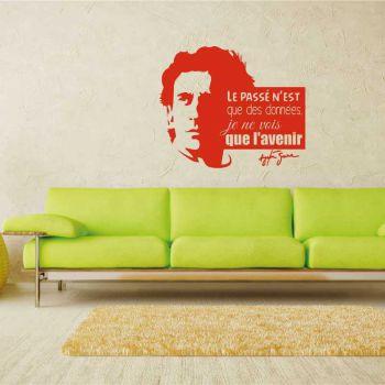 """Sticker Citation """"Le passé n'est que des données. Je ne vois que l'avenir"""" Ayrton Senna"""