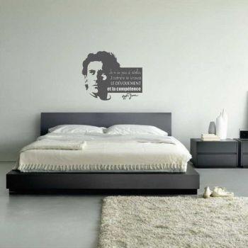 """Sticker Quote """"Je n'ai pas d'idoles. J'admire le travail, le dévouement et la compétence"""" Ayrton Senna"""
