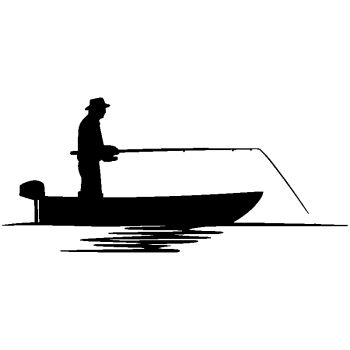 Fisherman Boat Decal