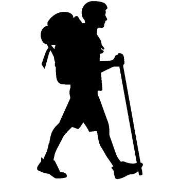 Hiking Walker Decal