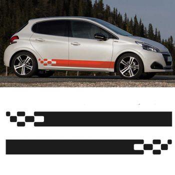 Sticker Set Peugeot 208 Racing side stripes decals