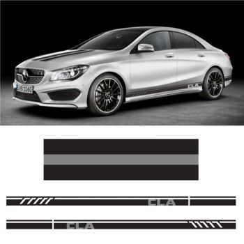 Sticker Set Mercedes CLA Racing side stripes decals