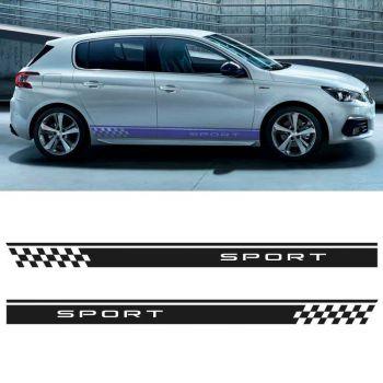 Sticker Set Peugeot 308 Sport side stripes decals