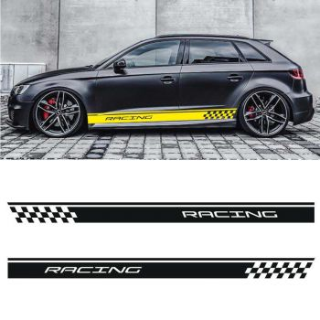 Sticker Set Audi A3 Racing side stripes decals