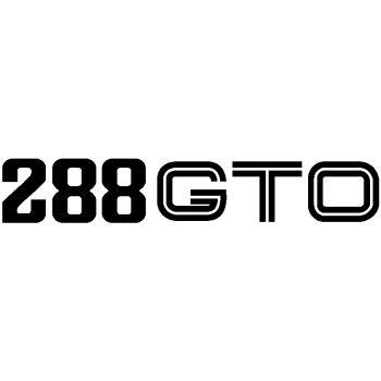 Ferrari 288 GTO Classic Decal