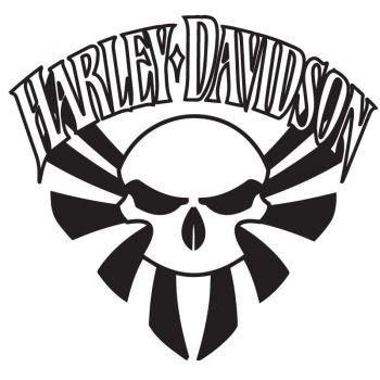Harley Davidson Skull Decal Flag Japan