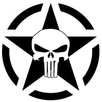 Sticker US ARMY STAR Decal Punisher