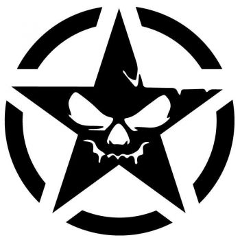 Sticker Étoile US ARMY Star Monster