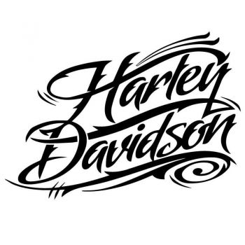 Sticker Harley Davidson Signature Logo Decal