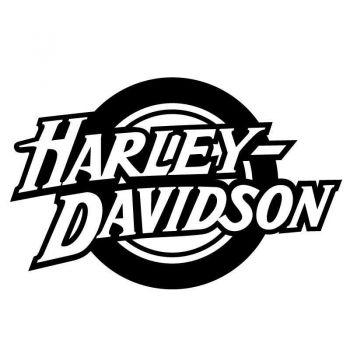 Sticker Harley Davidson Circle Logo Decal