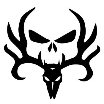 Sticker Harley Davidson Circle Skull Horns