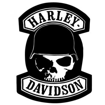 Sticker Harley Davidson Skull Helmet Decal