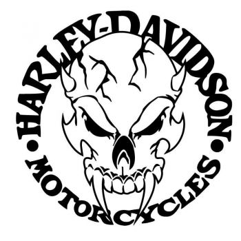 Sticker Decal Harley Davidson Skull Logo Demon
