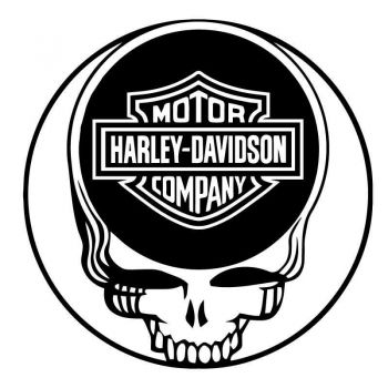 Sticker Decal Harley Davidson Logo On The Skull