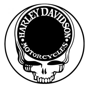 Sticker Decal Harley Davidson Motorcycles On The Skull
