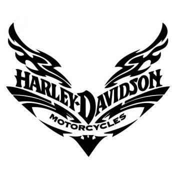 Sticker Harley Davidson Motorcycles Tribal Decal