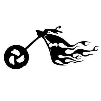 Harley Davidson Moto Flames Decal