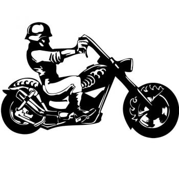 Sticker Harley Davidson Moto Helmet Decal