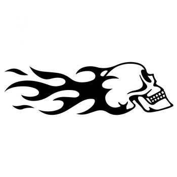 Harley Davidson Skull Flame Profile Decal