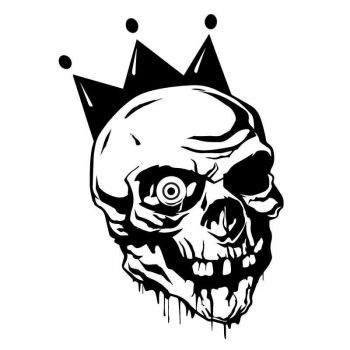 Sticker Clown Skull Decal