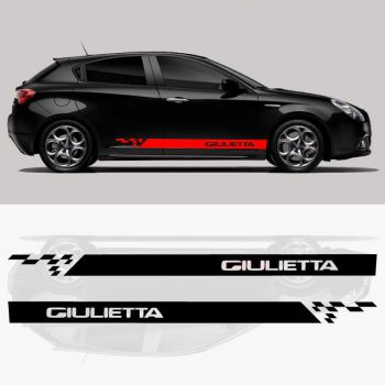 Car side Alfa Romeo Giulietta stripes stickers set 2018