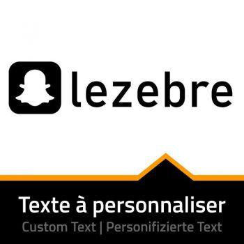 Snapchat Name Custom Decal