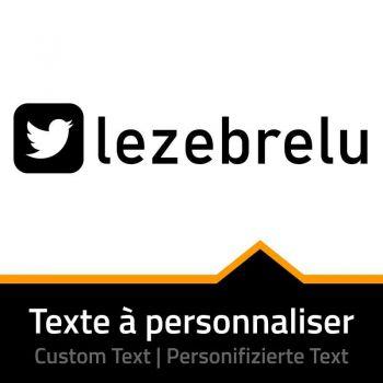 Twitter Name Custom Decal