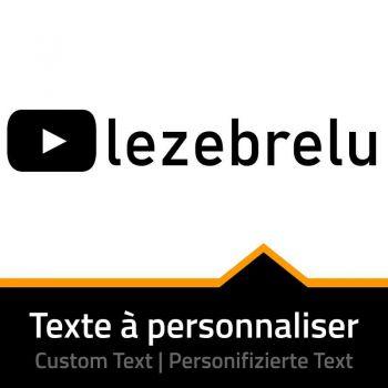 Youtube Name Custom Decal
