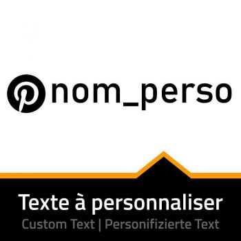 Sticker Pinterest - Nom Page à Personnaliser