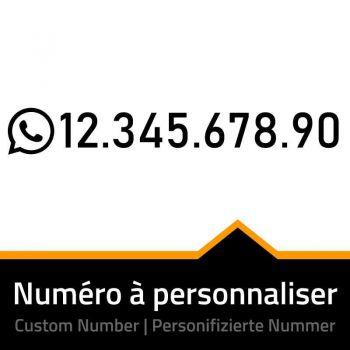 WhatsApp Number Custom Decal