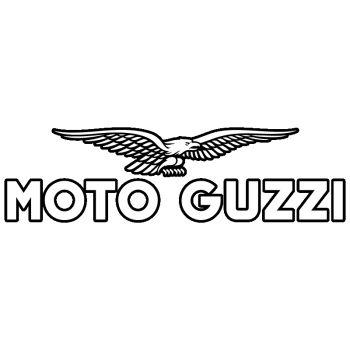 Sticker Moto Guzzi Emblème Noir & Blanc