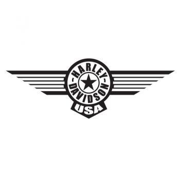 Harley Davidson USA Wings Decal