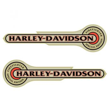 Harley-Davidson Tank Decal Firefighter Special Edition