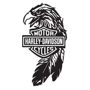 Sticker Harley Davidson Motorcycles Eagle Logo ★