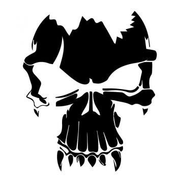 Sticker Skull Vampire Decal